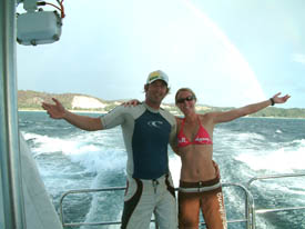 Brian and Kate enjoying the day out at Moreton Island
